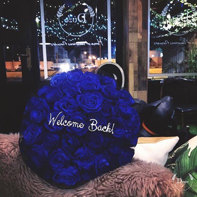 '  Welcome Back!  .    #Doze #Dozebh #Home #luxurious #flowers #luxurylife #Bahrain #uk #coffee #cards #cone #dozecone #gifts #giftshop