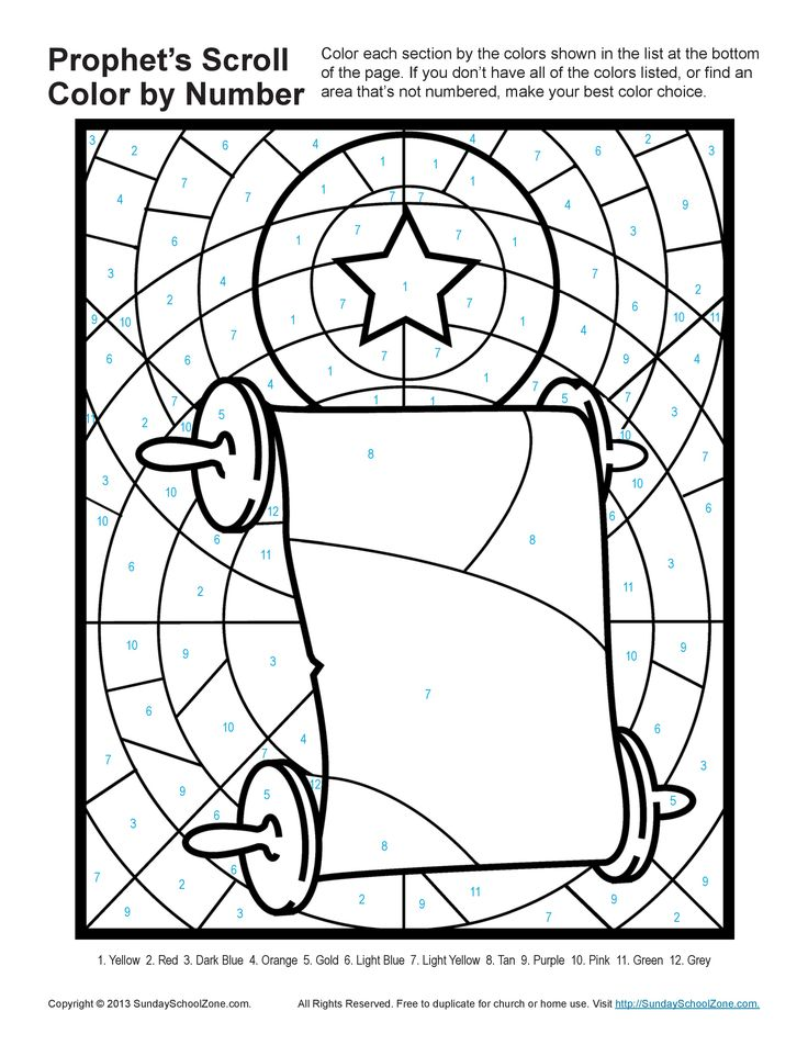 isaiah micah prophets told about jesus birth childrens bible activity prophets scroll color by number - Isaiah 64 8 Coloring Page
