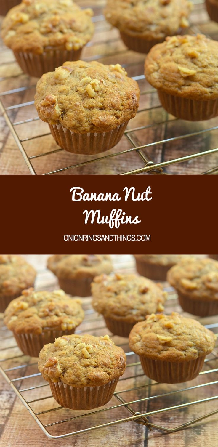 Banana Nut Muffins that taste like they came straight out of your favorite bakery! Moist, tender, a and bursting with fresh banana flavor and warm cinnamon, you'll be hard pressed to eat just one. via @lalainespins