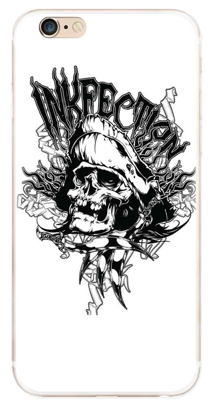 Whatskin DIY Style Skull Heads Series 06 Clear Back Cover for iphone 6