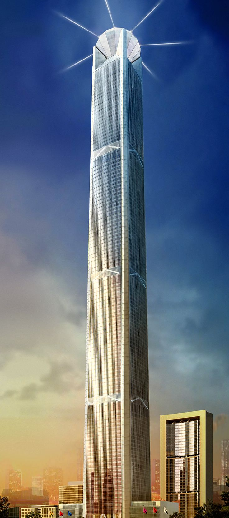 Goldin Finance 117 Tower, Tianjin, China by P & T Group Architects
