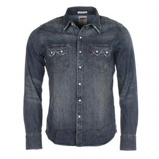 chemise homme levi 39 s western en jean camisas vaqueras. Black Bedroom Furniture Sets. Home Design Ideas