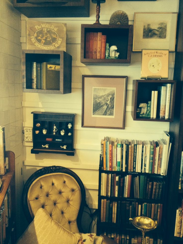 A cosy corner at Love Vintage Books Willoughby.