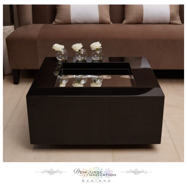 Contemporary Box Mirror Coffee Table - The lacquered wood is offset by the indented mirrored surface which can be used to display and reflect other products - Available Now in 10 Colours #HotPink #Red #Taupe #Navy #Orange #Black #White #Grey #InteriorDesign #InteriorDecoration #LuxuryLiving #Furniture #Stylish #Quality #Elegant #Modern #Trend #HomeFashion #Lifestyle #Decor #Contemporary #ClassyInteriors #InteriorAndHome #InteriorSelfie #Inspire_Me_Home_Decor #DemiurgeInnovationDesigns