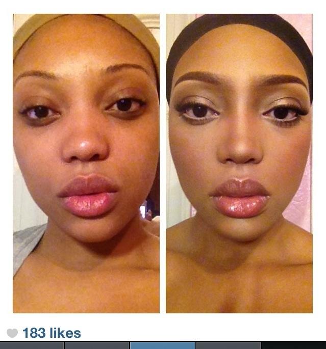 natural Me makeup natural Make vs no  makeup  look Pinterest UP   vs  No makeup makeup