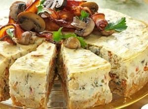 Mushroom and Bacon Cheesecake Recipe