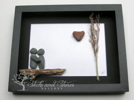 Engagement Gift for Couple Unique Engagement by SticksnStone