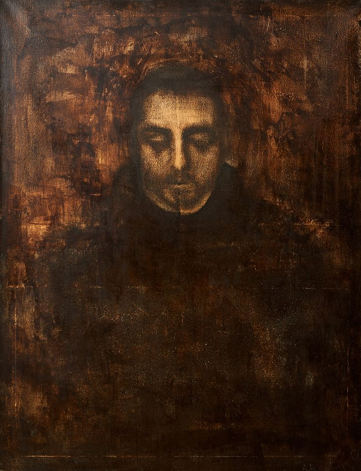 "Apostolis Itskoudis, ""The Saint"" ( Ο Άγιος), acrylics on canvas, 70Χ90 cm, 2015-16."