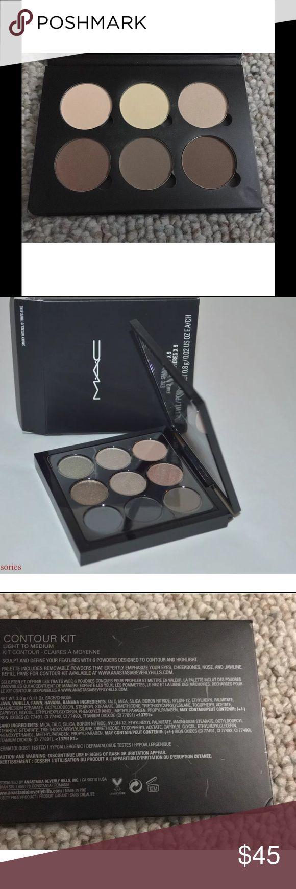 Eyeshadow Palette X 9 Colors NIB Authentic MAC Eye Shadow X9 - Smoky Metallic Times Nine   Filament (L) Carbon (M) Simple Sensation (M) Give Me Fire (L) Spice Bar (S) Richy Rich (L) Black Factor (M) By The Silver Moon (VXP) Petrol (S) MAC Cosmetics Makeup Eyeshadow