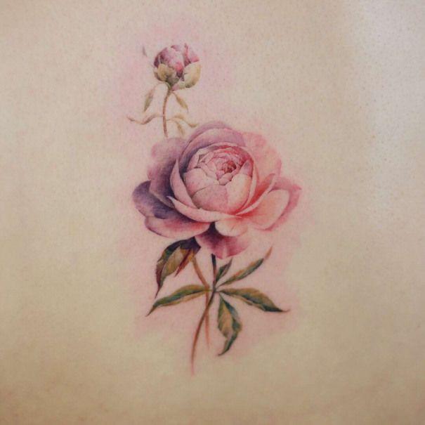 Tatoueur Doy auteurs style aquarelle tatouage minimaliste | Corée du Sud …   – South Korea