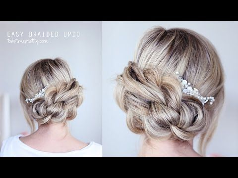 EASY Braided Updo - YouTube (done horizontally and vertically) with a banana clip