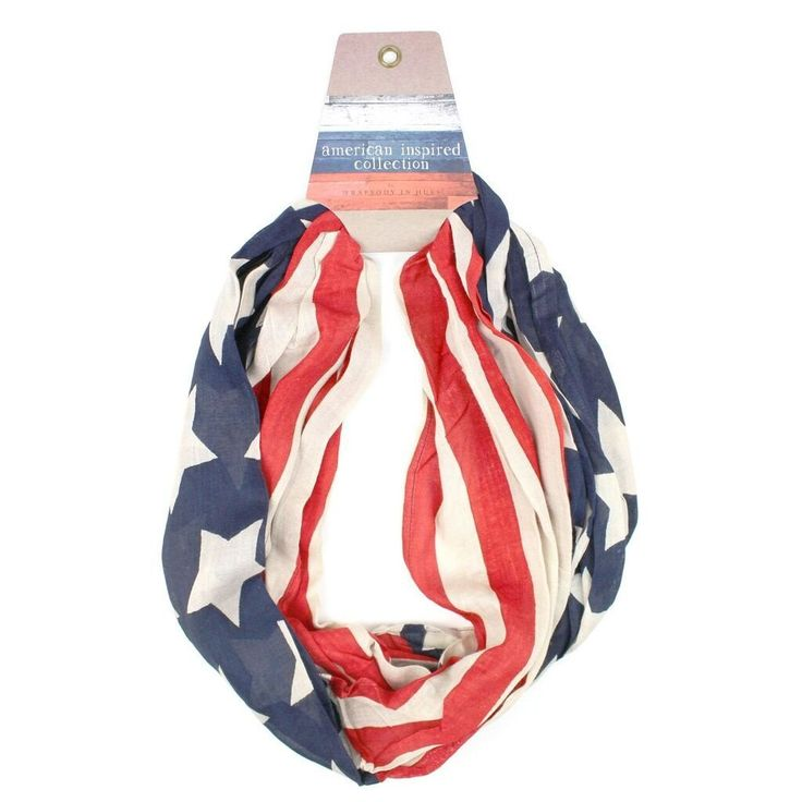 Americana Banner Show your American pride with this flag inspired eternity scarf. Whether your Memorial Day, Bbq or favorite concert, show your true colors! Pe