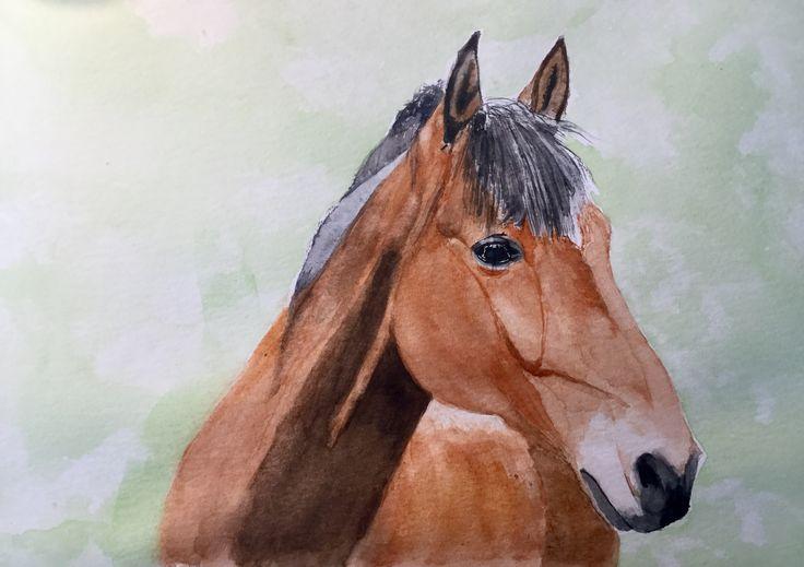 Athenia #art #watercolour #horse