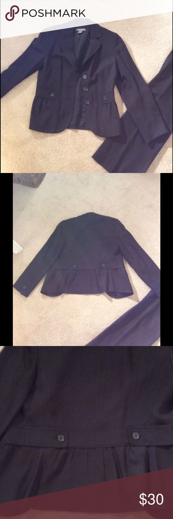 Black Blazer Black Ann Taylor blazer, great condition. This works perfectly with the black banana Republic Dress Pants and the black Loft Dress skirt I am selling if you are looking for an affordable suit. Ann Taylor Jackets & Coats Blazers