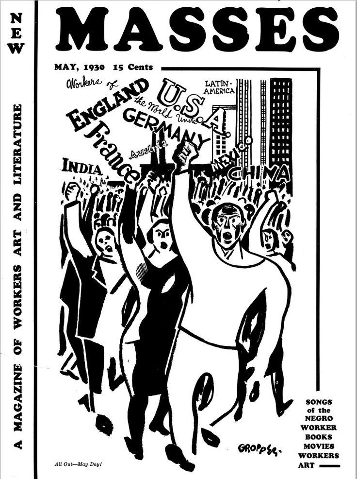 Cover art by William Gropper, New Masses, May 1930 #newmasses, #politicalart #drawing