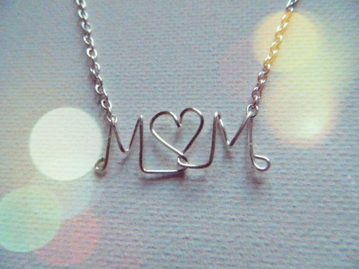 Mom Wire Necklace. $11.95, via Etsy.