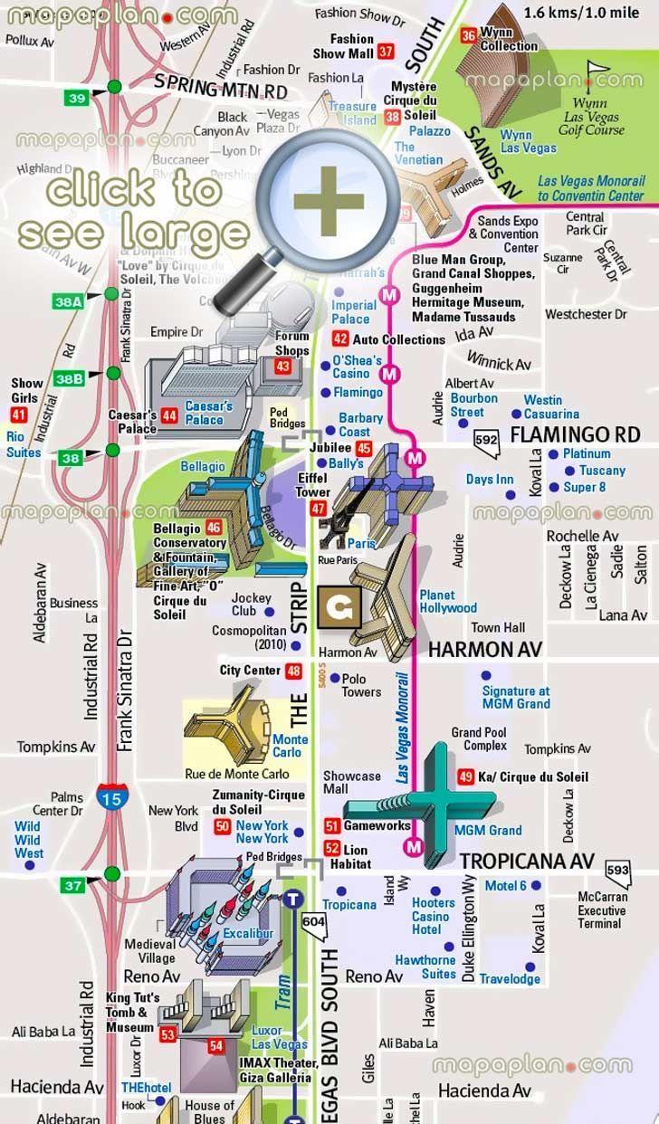 Best Las Vegas Casinos Ideas On Pinterest Las Vegas Usa - Map of las vegas venetian