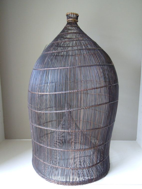 Antique Fish or Eel Trap Basket from the Philippines