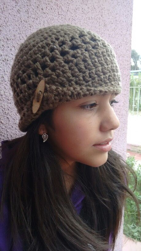 Gorro crochet, cafe, madera...calor.