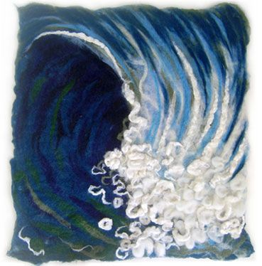 Wet felted piece - found after I had done my piece. Like the curved movement.                                                                                                                                                      More