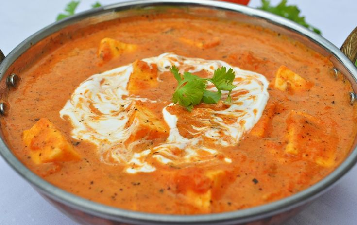 Shahi Paneer, cottage cheese in a thick tangy gravy of cream, tomatoes and spices.. #VeganDishes