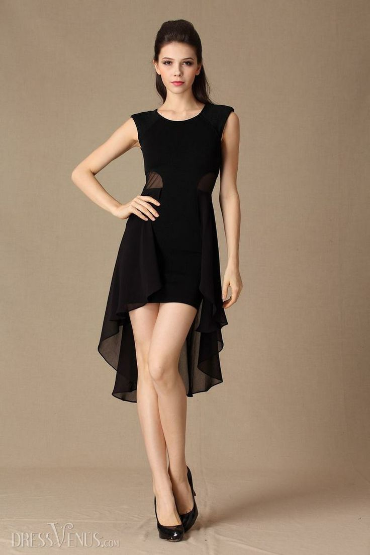 Amazing Asymmetry Short Dress