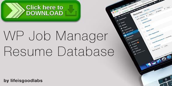 Free nulled WP Job Manager - Resume Database download - resume database