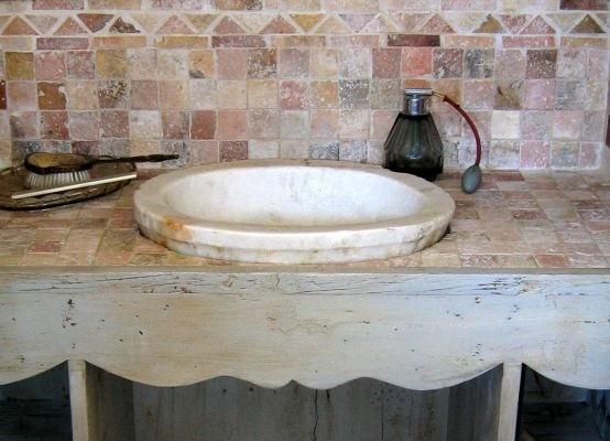 Mobili da bagno in stile, stile rustico, stile country 10