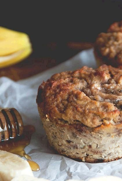 Jumbo Banana Muffins   The secret cinnamon almond butter filling makes these banana muffins insanely good.