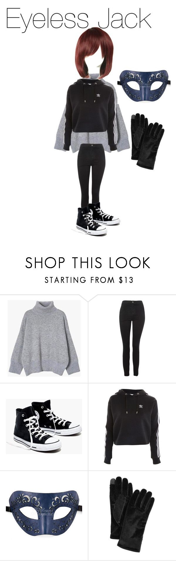 """Eyeless Jack Creepypasta"" by tori-camilleri on Polyvore featuring Topshop, Madewell, Cejon and WithChic"