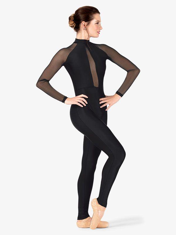 Women Dancewear Bodysuit Mesh Shirt Belly Dance Tops Bodysuit Leotard Unitard
