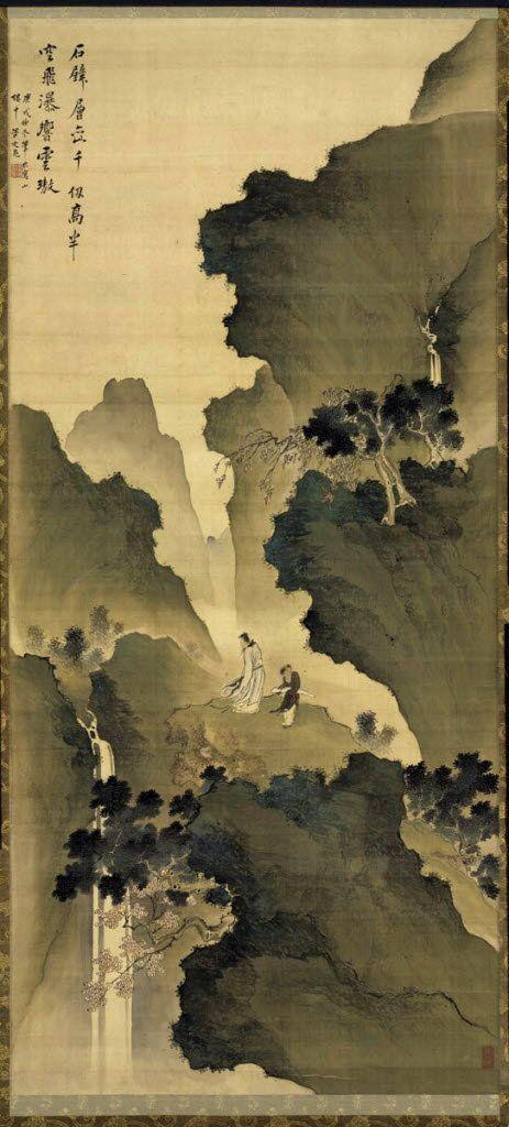 Watching a Waterfall, 1790.    Tani Bunchō (Japanese, 1763-1840).