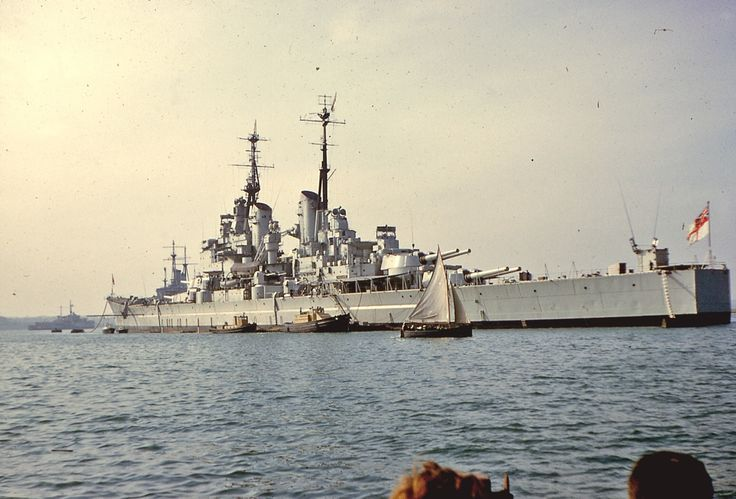 "apostlesofmercy: "" apostlesofmercy: "" The last battleship ever built, HMS Vanguard at Portsmouth sometime during 1957. When she reluctantly bowed out 3 years later, in many ways so too did the navy she served. "" And in happier days. """