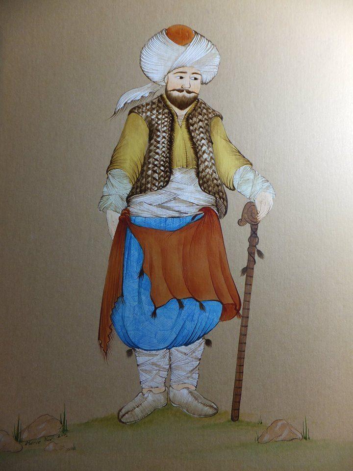 Ottoman miniature figure, miniature artist: Merve Karlı.