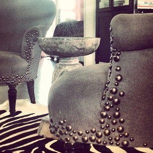 fun with upholstery tacks - interiors-designed.com