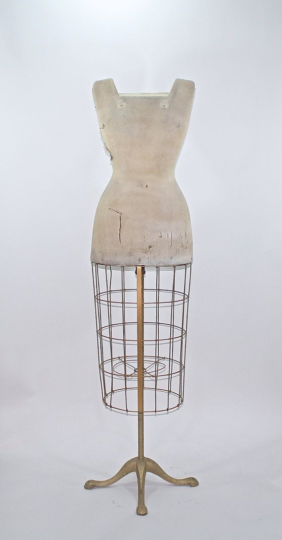 Vintage Dress Form / Vintage Dress Form With Cage by HuntandFound, $345.00