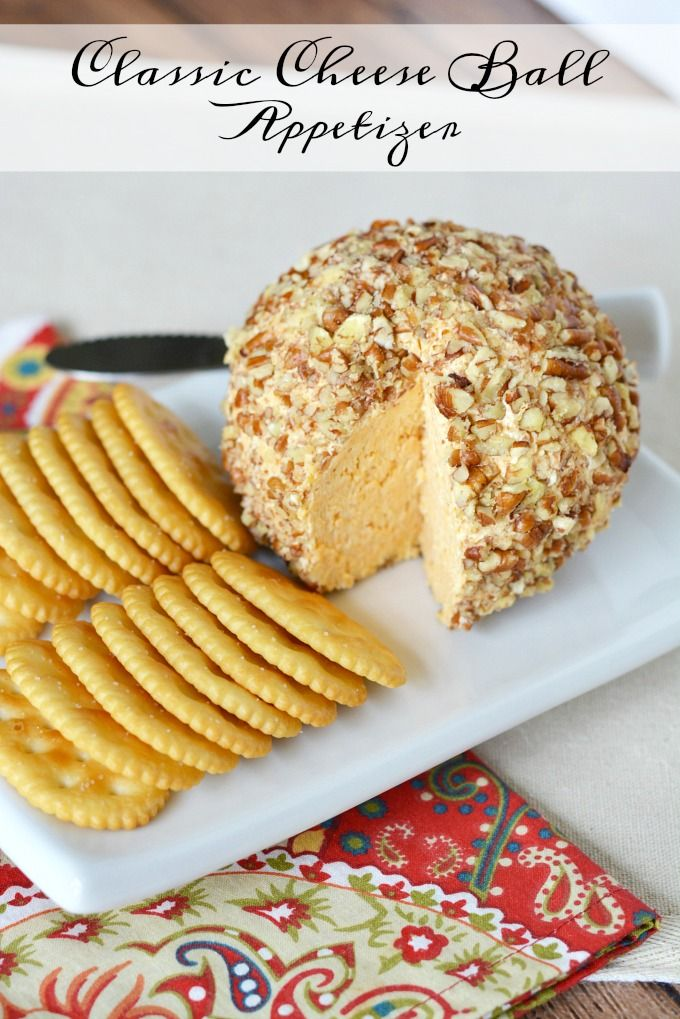 Classic Cheese Ball Appetizer Recipe - The Rebel Chick