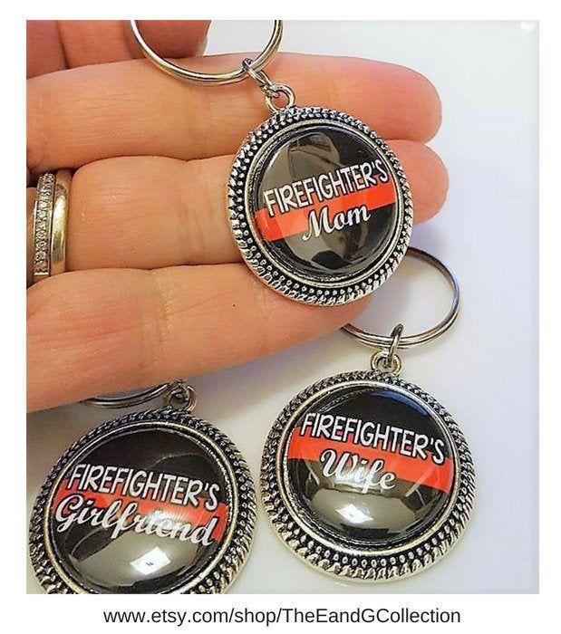 Fireman Fire Department keyring Firefighter Charm keychain Firefighter Jewelry