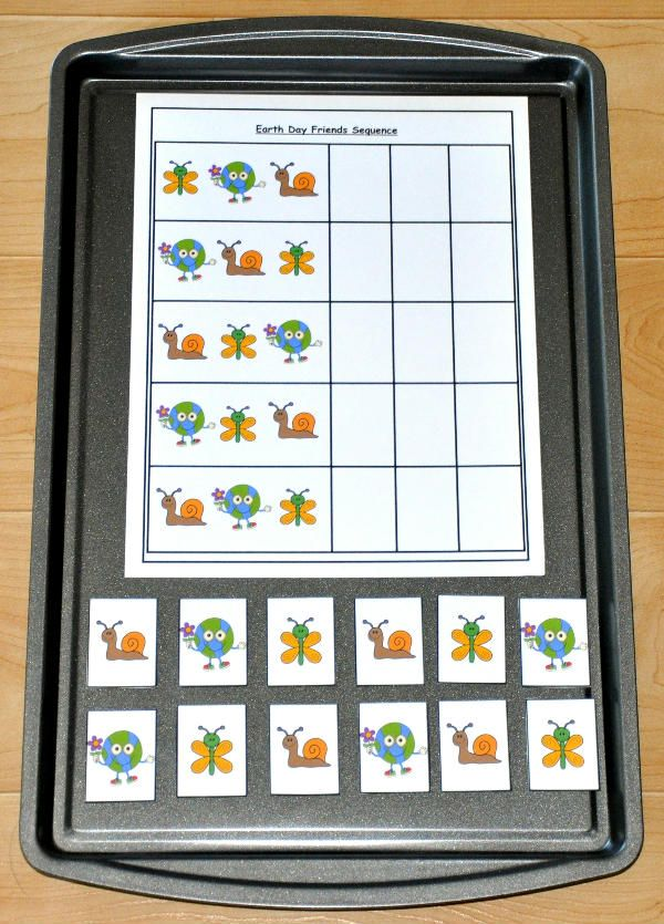 The Earth Day Number Sequence Cookie Sheet Activity focuses on numbers. In this activity, students arrange the sorting pieces in numerical order.  This cookie sheet activity works well in math centers as well as independent work stations.