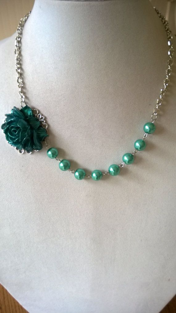 FOR TEAL AND AQUA LOVERS  by BIJOUX LIBELLULE on Etsy