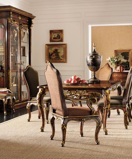 Henredon Arabesque Collection Dining Room with China Curio