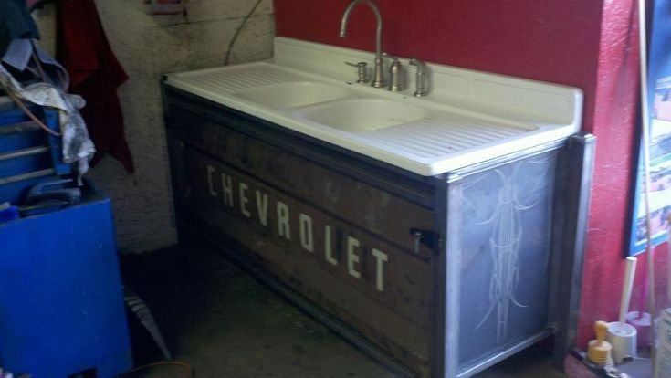 Vehicular Furnishings and Automotive Decor. This would be cool in an outdoor kitchen or cabana house.