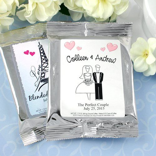Personalized Wedding Coffee Favors by Beau-coup