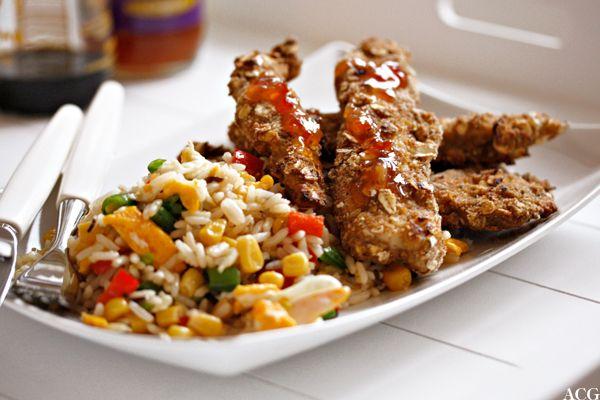 Crispy kyllingpinner og stekt ris   Enestående MatEnestående Mat