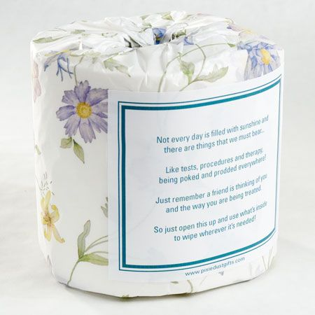 """Personalized """"Get Well Soon"""" Toilet Paper Card"""