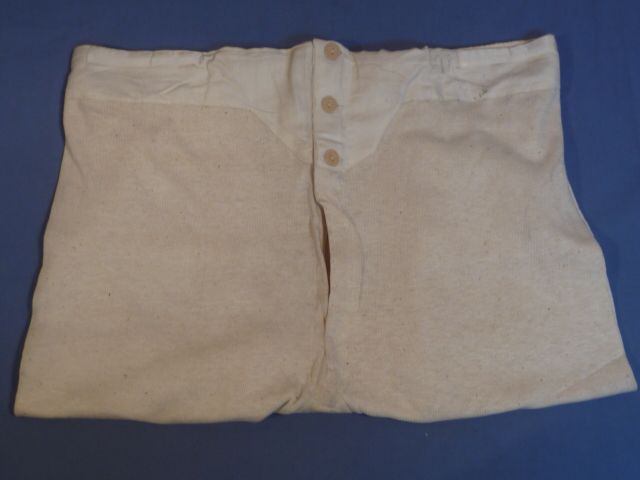 Original WWII Era German Soldier's Long Underpants, UNISSUED!