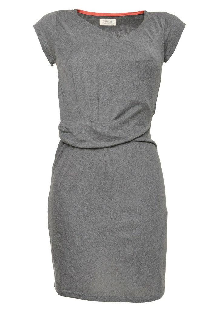 Nümph Melody Jersey Dress Grey Melange - Korte Kjoler | COUTIE