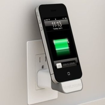 iPhone MiniDock Power Adapter. The MiniDock's simple and compact design frees up any unsightly, dangling cords, so you can charge your iPhone, iPod or shuffle in an upright position with ease. Ideal for smaller areas like hotel rooms or bedrooms, maximize and clear up your space.