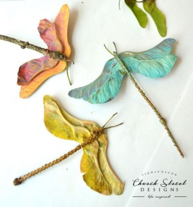 Mapple seed dragonflies - autumn kids craft  // Szitakötők juharfa termésekből - őszi ötlet gyerekeknek // Mindy - craft tutorial collection