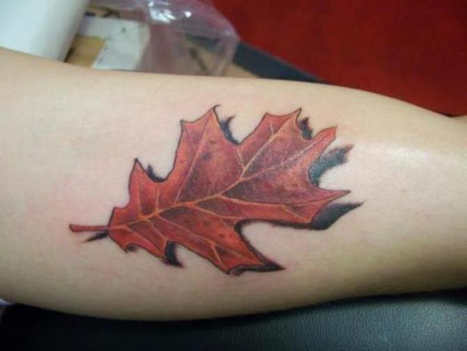 18 Oak Leaf Tattoo